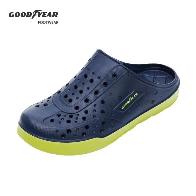 【GOODYEAR 固特異】露營趣-多功能洞洞鞋 男 晴雨兩用鞋 藍綠(固特異GAMP13306)