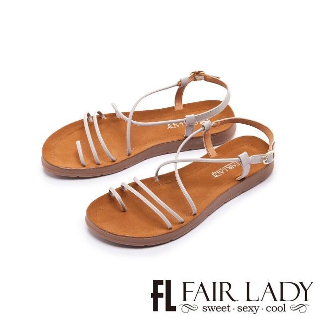 【FAIR LADY】盛夏 細帶線條繞趾平底涼鞋(薰衣草、102411)