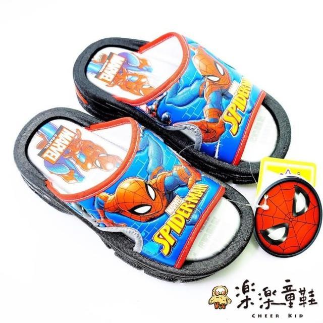 【樂樂童鞋】台灣製蜘蛛人拖鞋-MN004(現貨 台灣製 MIT 蜘蛛人 拖鞋 沙灘鞋 兒童拖鞋)