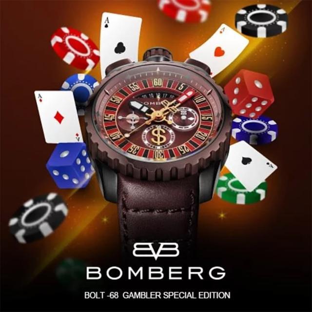 【BOMBERG】炸彈錶 BOLT-68 賭神輪盤限量手錶(BS45CHPBRBA.GAM-1.3)