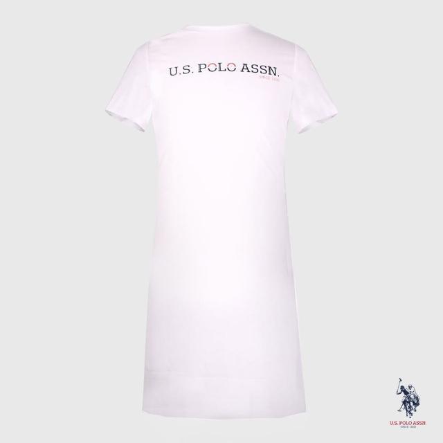 【U.S. POLO ASSN.】文字LOGO T恤裙-兩色(熱銷經典)