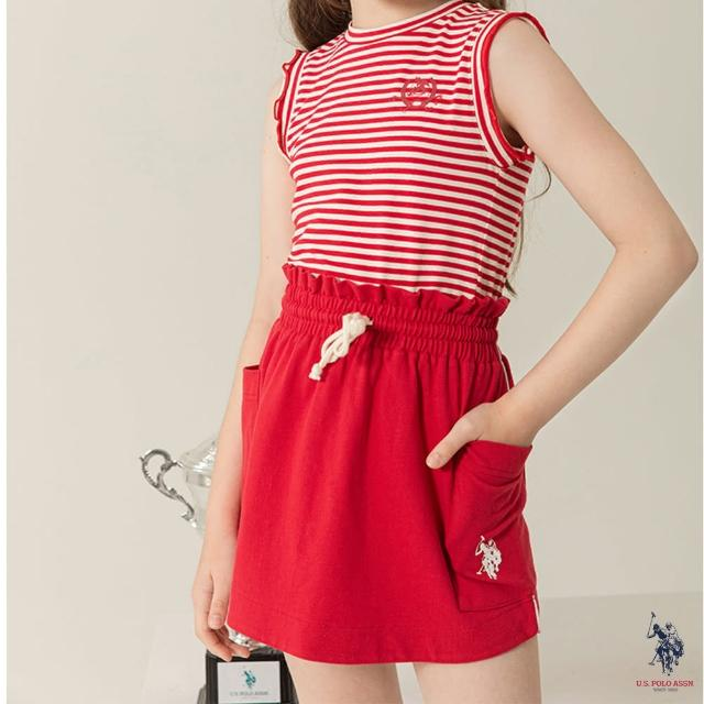 【U.S. POLO ASSN.】女童時尚褲裙-兩色(熱銷經典)