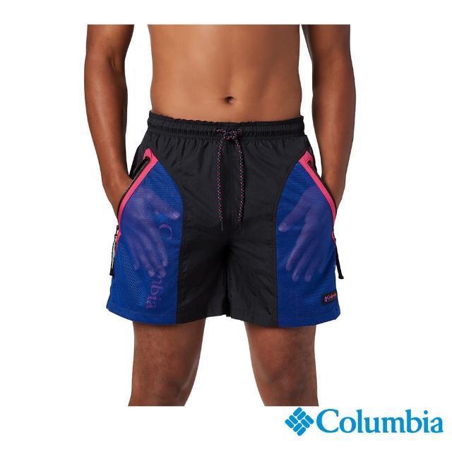 【Columbia 哥倫比亞】男款-ICONS防潑短褲-黑色(UAE03700BK / 防潑水.戶外.休閒)