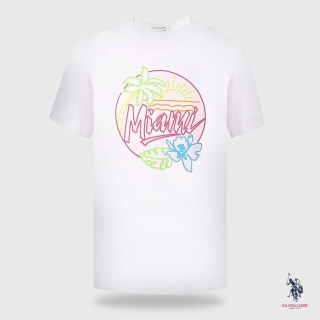 【U.S. POLO ASSN.】女椰林短袖T恤-兩色(熱銷經典)