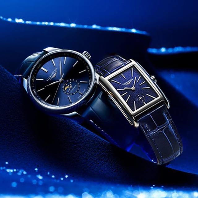 【LONGINES 浪琴】多情月相浪漫對錶(L29194920+L52554932)