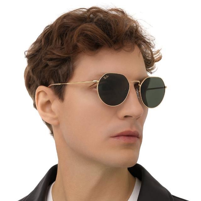 【RayBan 雷朋】JACK 太陽眼鏡 RB3565 9196/31 53mm 金框G15經典墨綠色鏡片 公司貨