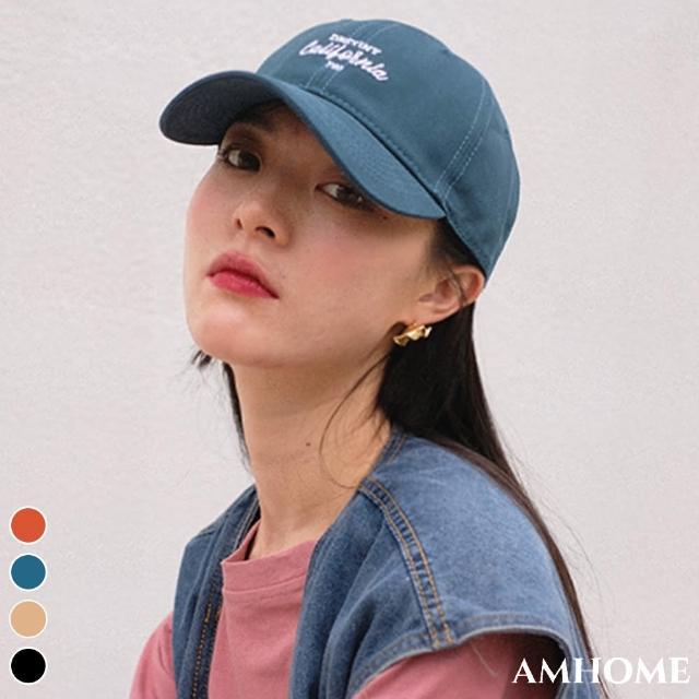 【Amhome】韓國潮流字母刺繡男女棒球鴨舌帽#109729現貨+預購(4色)