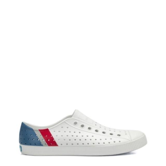 【native】JEFFERSON BLOCK 白藍紅三色休閒洞洞鞋-NO.11100102-8908