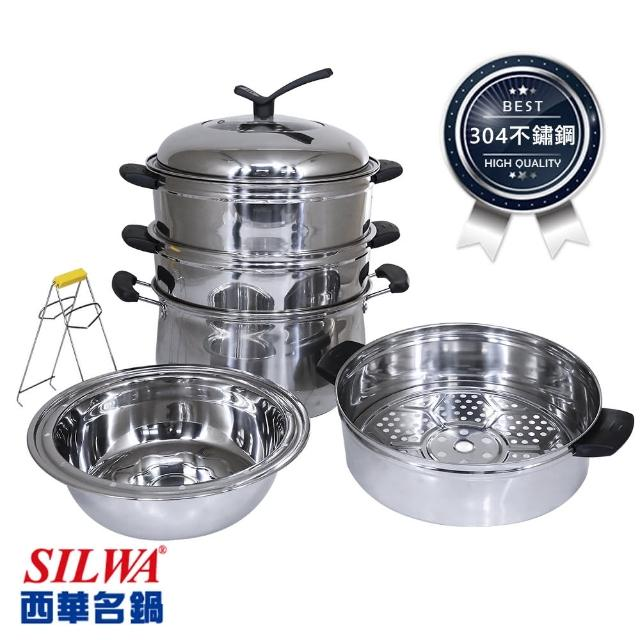 【SILWA 西華】萬能媽咪不鏽鋼多功能蒸煮鍋28cm