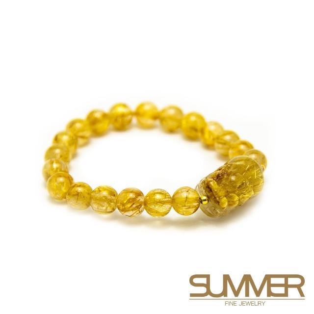 【SUMMER 寶石】鈦晶貔貅手珠