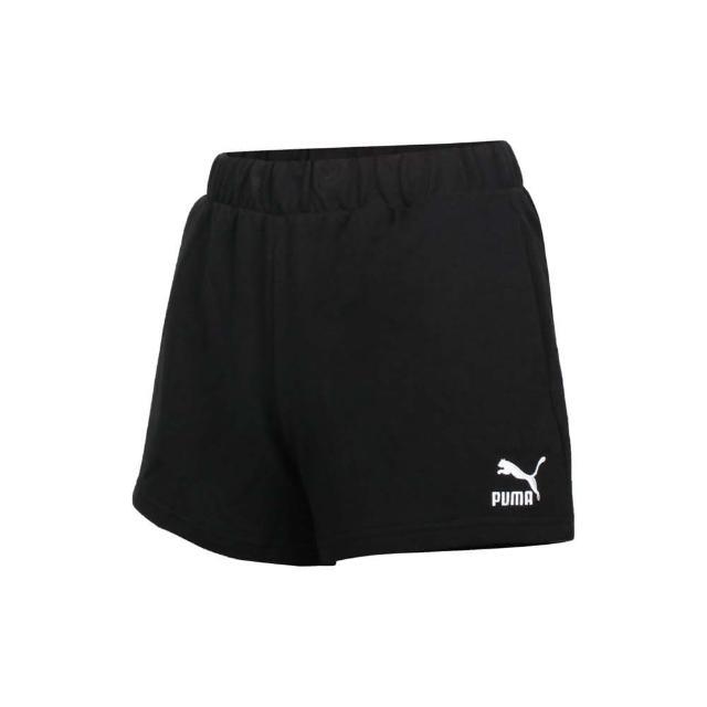 【PUMA】女高腰短褲-歐規 三分褲 針織 運動 慢跑 黑白(53254001)