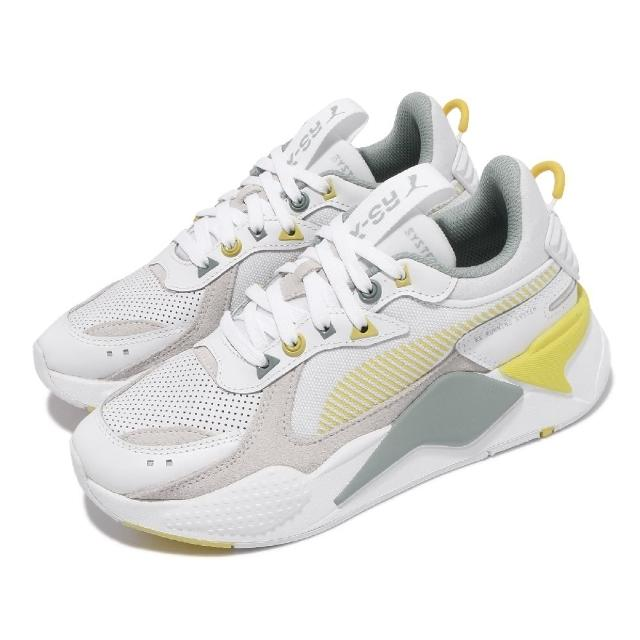 【PUMA】休閒鞋 RS-X Colour Theory 男女鞋 海外限定 復古 老爹鞋 增高 情侶穿搭 白 黃(37092003)