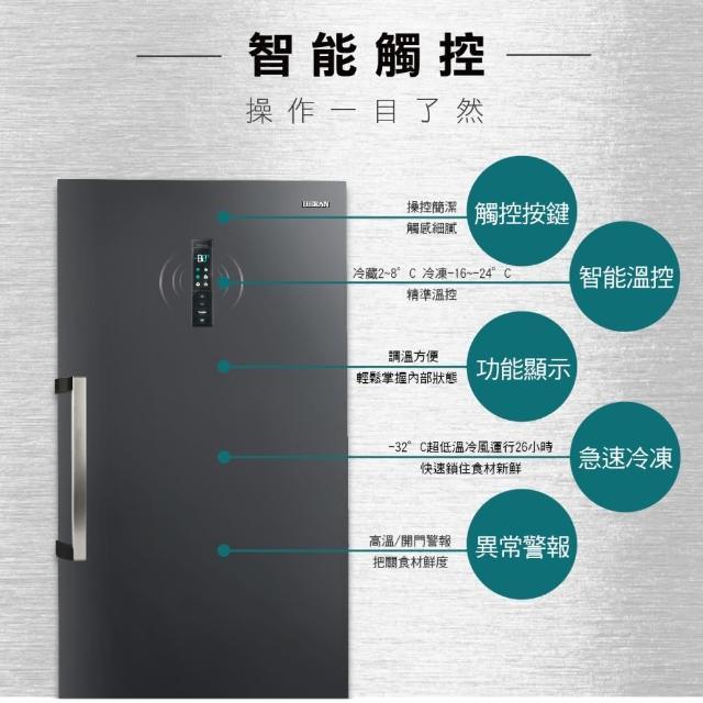 【HERAN 禾聯】★福利品★383公升 DC變頻無霜直立式冷凍櫃(HFZ-B3861F福利品)