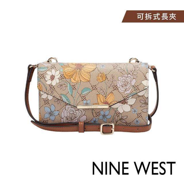 NINE WEST【NINE WEST】NINE WEST PAISLEY信封式磁釦迷你斜背包-印花色(118578)
