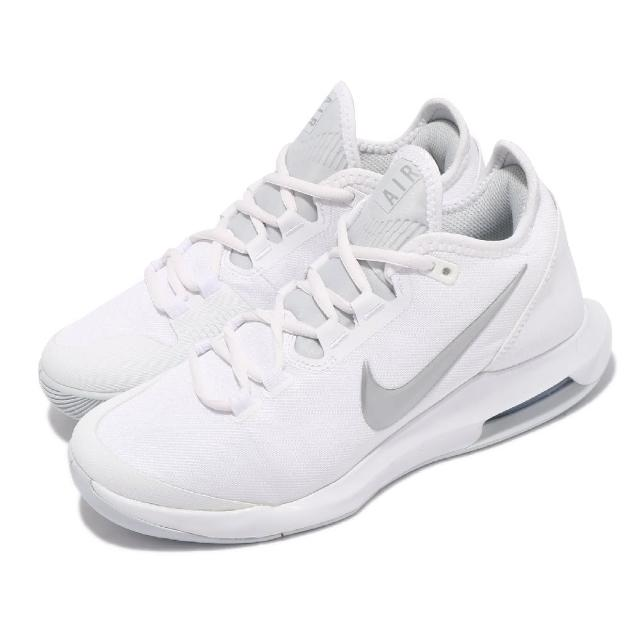 【NIKE 耐吉】網球鞋 Air Max Wildcard HC 女鞋 海外限定 支撐 避震 包覆 球鞋 白 銀(AO7353-100)