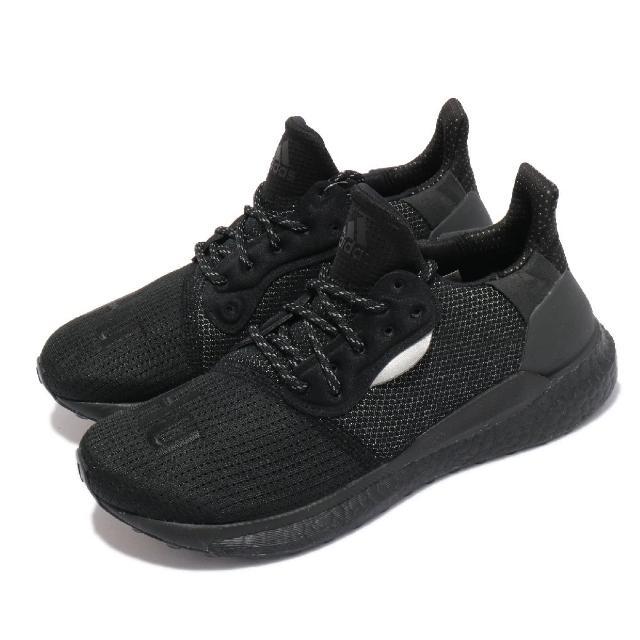 【adidas 愛迪達】休閒鞋 PW Solarhu PRD 運動 男女鞋 海外限定 舒適 避震 路跑 球鞋 穿搭 全黑(EG7788)