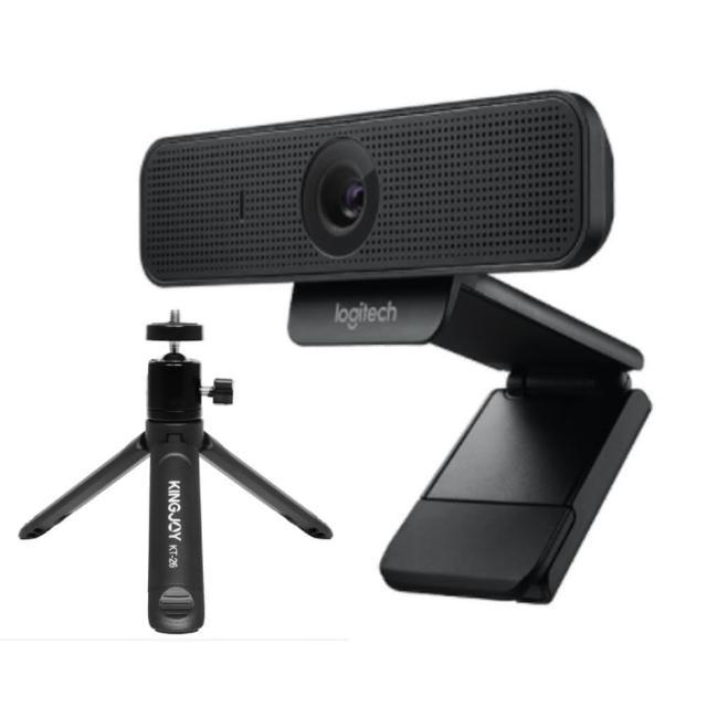 【Logitech 羅技】C925E 商務網路攝影機+桌面型2節三腳架套組(公司貨)