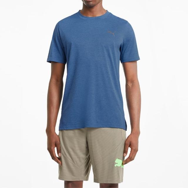 【PUMA】上衣 男款 短袖上衣 運動 慢跑 藍 52013713