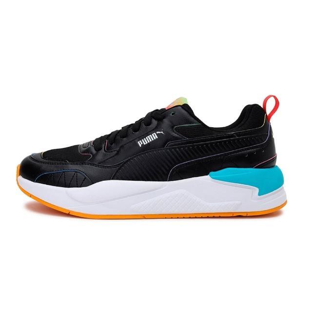 【PUMA】慢跑鞋 男鞋 女鞋 運動鞋 緩震 訓練 X-Ray2 Square Rainbow 黑 36885602