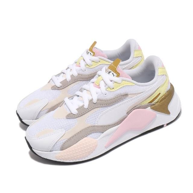 【PUMA】休閒鞋 RS-X3 Puzzle V2 女鞋 海外限定 老爹鞋 粉嫩配色 穿搭推薦 白 粉(38282101)