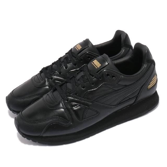 【PUMA】休閒鞋 Mirage OG Suit 男鞋 海外限定 皮革鞋面 復刻 穿搭推薦 黑 金(38252202)