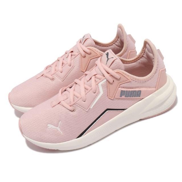 【PUMA】休閒鞋 Platinum Shimmer 女鞋 運動慢跑 基本款 透氣 緩震 粉 黑(19377201)