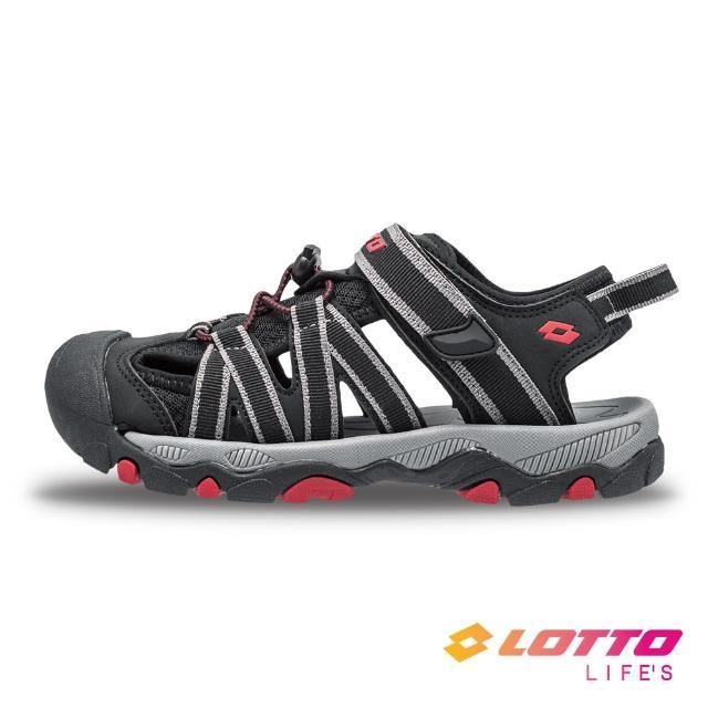 【LOTTO】童鞋 輕量護趾涼鞋(黑-LT1AKS3320)