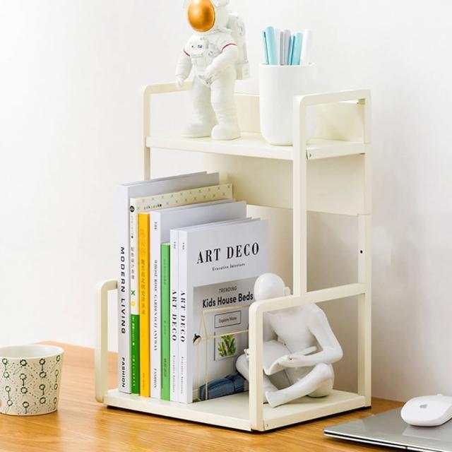 【HappyLife】H型桌面置物架 兩層30cm Y10175(桌上整理架 檯面整理架 花架 廚房收納架 書架)