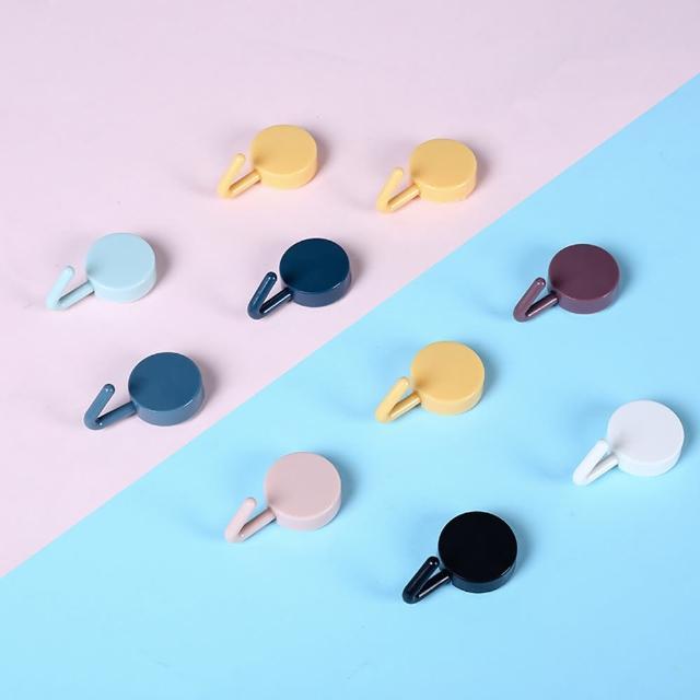 【簡單生活】時尚色彩免釘強力背膠無痕掛勾10入組(多款任選)