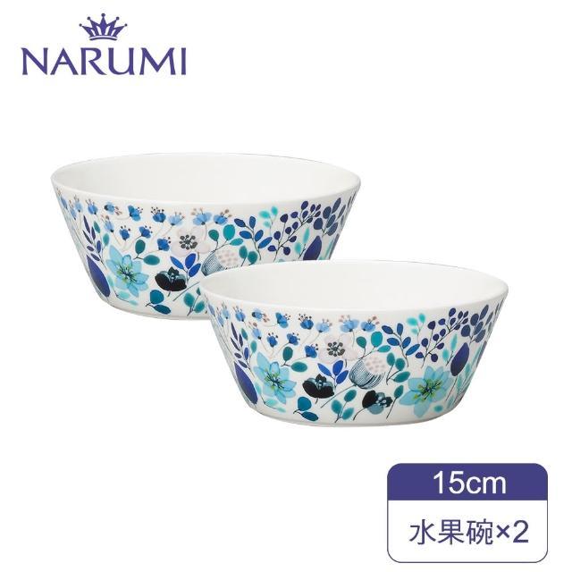 【MOMO獨家雙碗組】NARUMI日本鳴海骨瓷Anna Emilia 冬季花園水果碗(2入)
