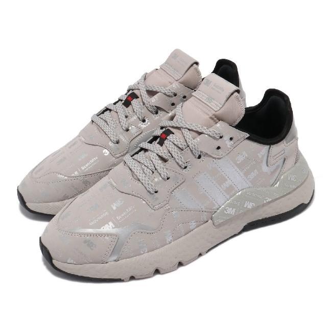 【adidas 愛迪達】休閒鞋 Nite Jogger 運動 男鞋 海外限定 愛迪達 舒適 避震 穿搭 反光 灰 銀(FV3622)