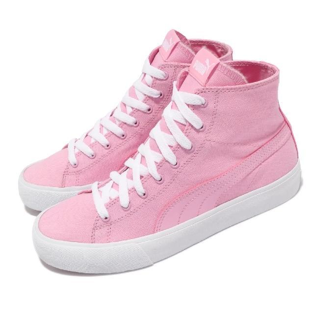 【PUMA】休閒鞋 Bari 帆布鞋 中筒 女鞋 基本款 穿搭推薦 街頭流行 粉 白(37389103)