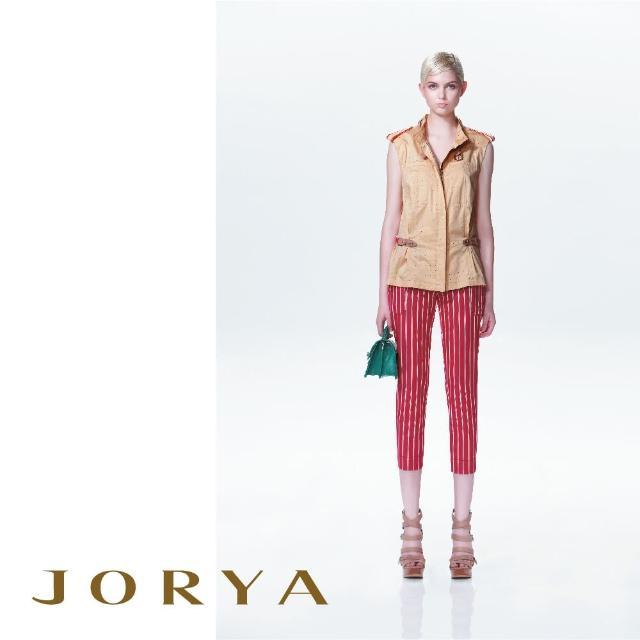 【JORYA】13TS207小波點可拆式頸領造型無袖上衣