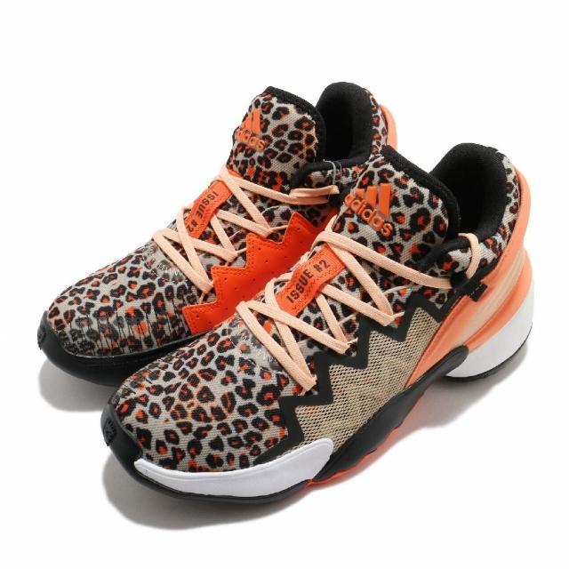 【adidas 愛迪達】籃球鞋 D.O.N. Issue 2 運動 男鞋 愛迪達 Donovan Mitchell 黑 橘(FY0895)
