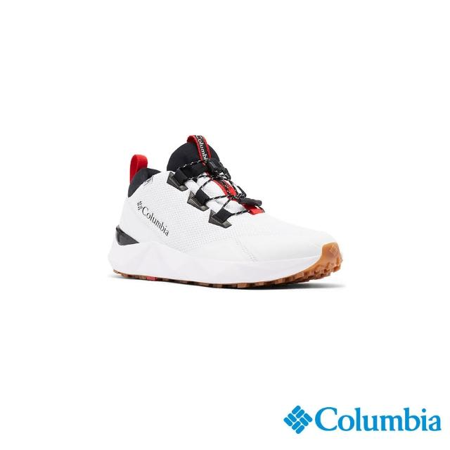 【Columbia 哥倫比亞】男款- Outdry防水都會健走鞋-白色(UBM01320WT / 健走.運動.防水)