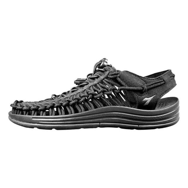 【DIADORA】編織涼鞋71123黑色(加強護趾 可調整拌帶 水陸兩用 耐磨大底)