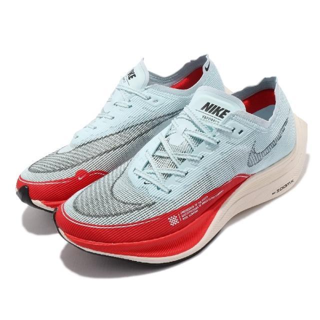 【NIKE 耐吉】ZoomX Vaporfly Next% 2代 男鞋 OG 慢跑鞋 馬拉松 路跑 藍 紅(CU4111-400)