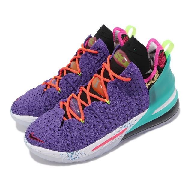 【NIKE 耐吉】籃球鞋 Lebron XVIII EP 運動 男鞋 明星款 氣墊 舒適 避震 包覆 球鞋 紫 彩(DM2814-500)
