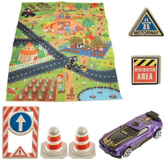 【TDL】合金車子地圖地毯遊戲玩具家家酒玩具益智玩具 306588