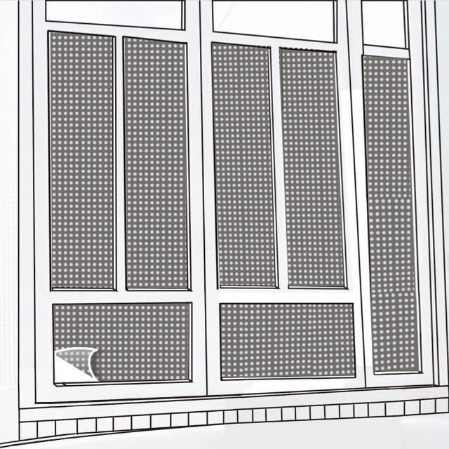 【CARBUFF】DIY居家玻璃靜電貼/黑+銀 60x150cm 2入 MH-4037