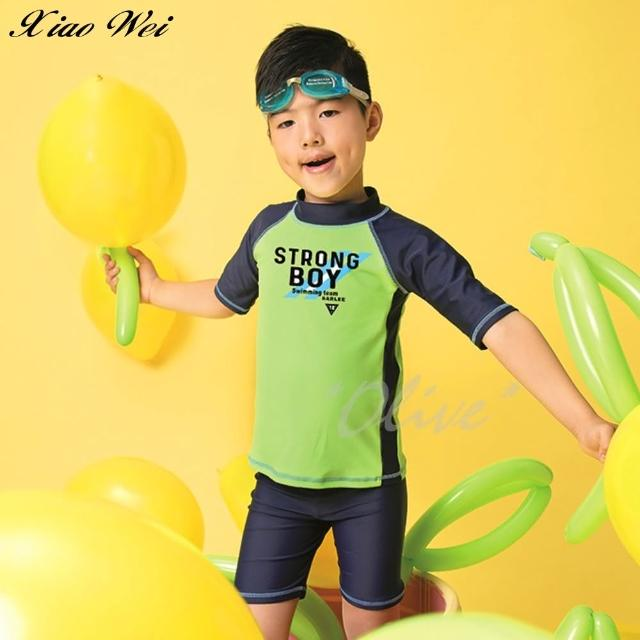 【SARLEE 沙麗】男童二件式長袖泳裝(NO.209048)