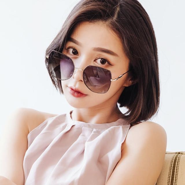 【ALEGANT】芙蘿拉的小徑舞曲(夜香繽復古典雅幾何線條銀葉設計漸層偏光墨鏡/UV400太陽眼鏡)