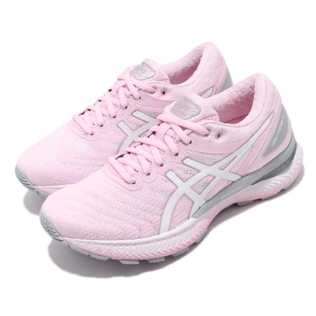 【asics 亞瑟士】慢跑鞋 Gel-Nimbus 22 運動 女鞋 亞瑟士 路跑 緩震 輕量透氣 亞瑟膠 粉 白(1012A587700)