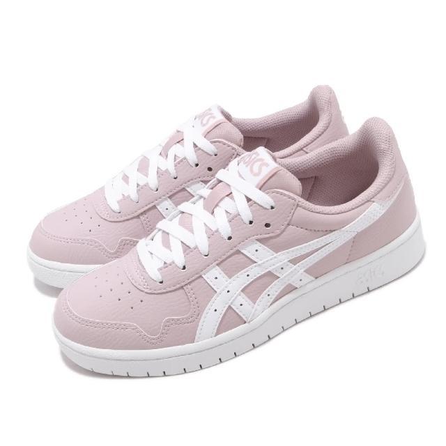 【asics 亞瑟士】休閒鞋 Japan S 復古 低筒 女鞋 亞瑟士 AT 皮革鞋面 穿搭 粉紫 白(1192A147701)