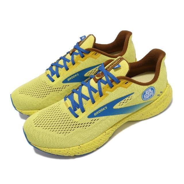 【BROOKS】慢跑鞋 Launch 8 運動休閒 男鞋 平穩型 避震 回彈 透氣 合腳 黃 藍(1103581D711)