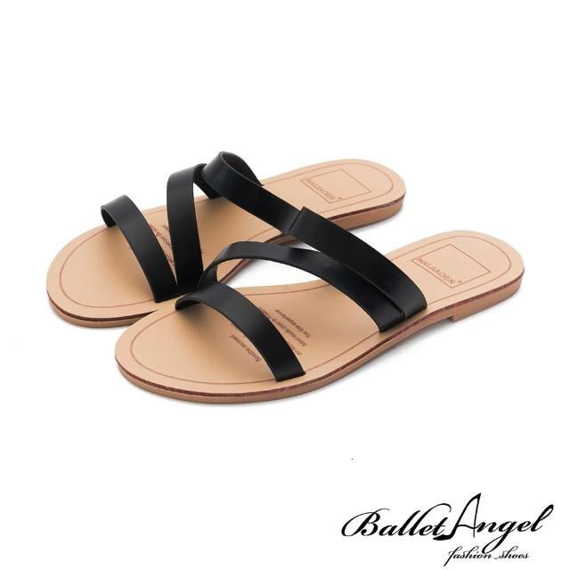 【BalletAngel】自然系女孩平底涼拖鞋(黑)
