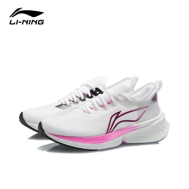 【LI-NING 李寧】飛電Discovery女子競速跑鞋 標準白(ARMR006-1)