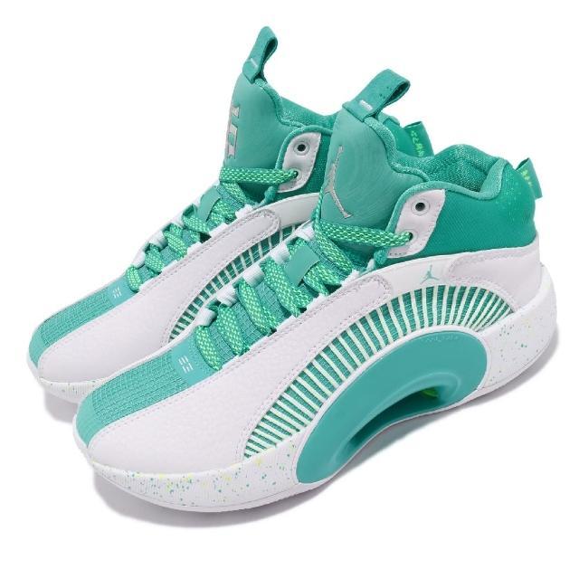 【NIKE 耐吉】籃球鞋 Air Jordan XXXV 運動 女鞋 喬丹 避震 支撐 包覆 郭艾倫 球鞋 綠 白(DJ3009-100)