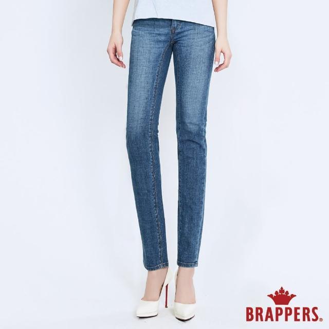 【BRAPPERS】女款 新美腳 ROYAL系列-低腰彈性直筒褲(淺藍)