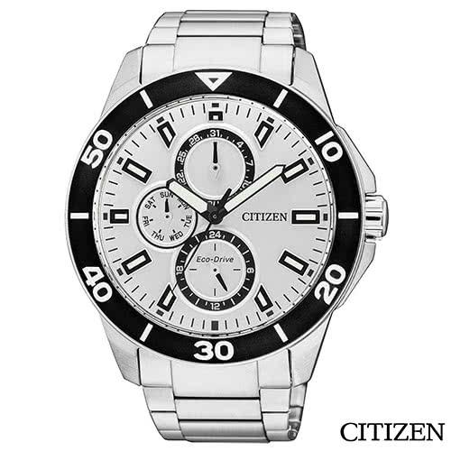 【CITIZEN 星辰】Eco-Drive Sporty 光動能簡約三眼時尚腕錶(AP4030-57A)